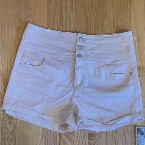Pants - Pink High Waisted Denim Shorts